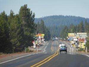 Chemult OR, Population 300, Hamlet, Bike lanes on the main road.