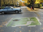 Portland OR, Coloured bike box for facilitating left turns, Drivers will know where you will be ©Photograph by H-JEH Becker, 2012