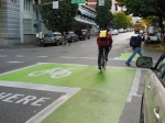 Portland OR, Left turn bike box ©Photograph by H-JEH Becker, 2012
